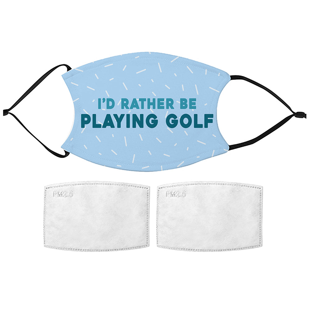 Printed Face Mask - Golf Fan Design