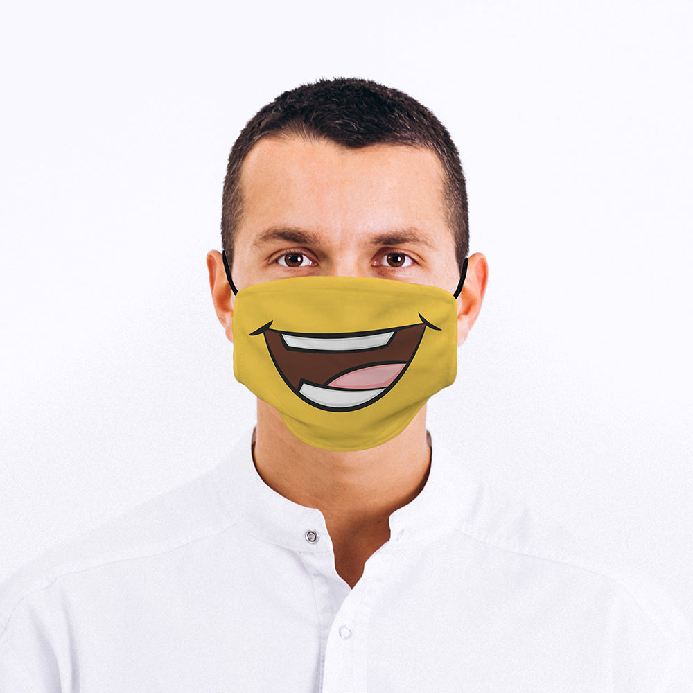 Printed Face Mask - Keep Smiling Design