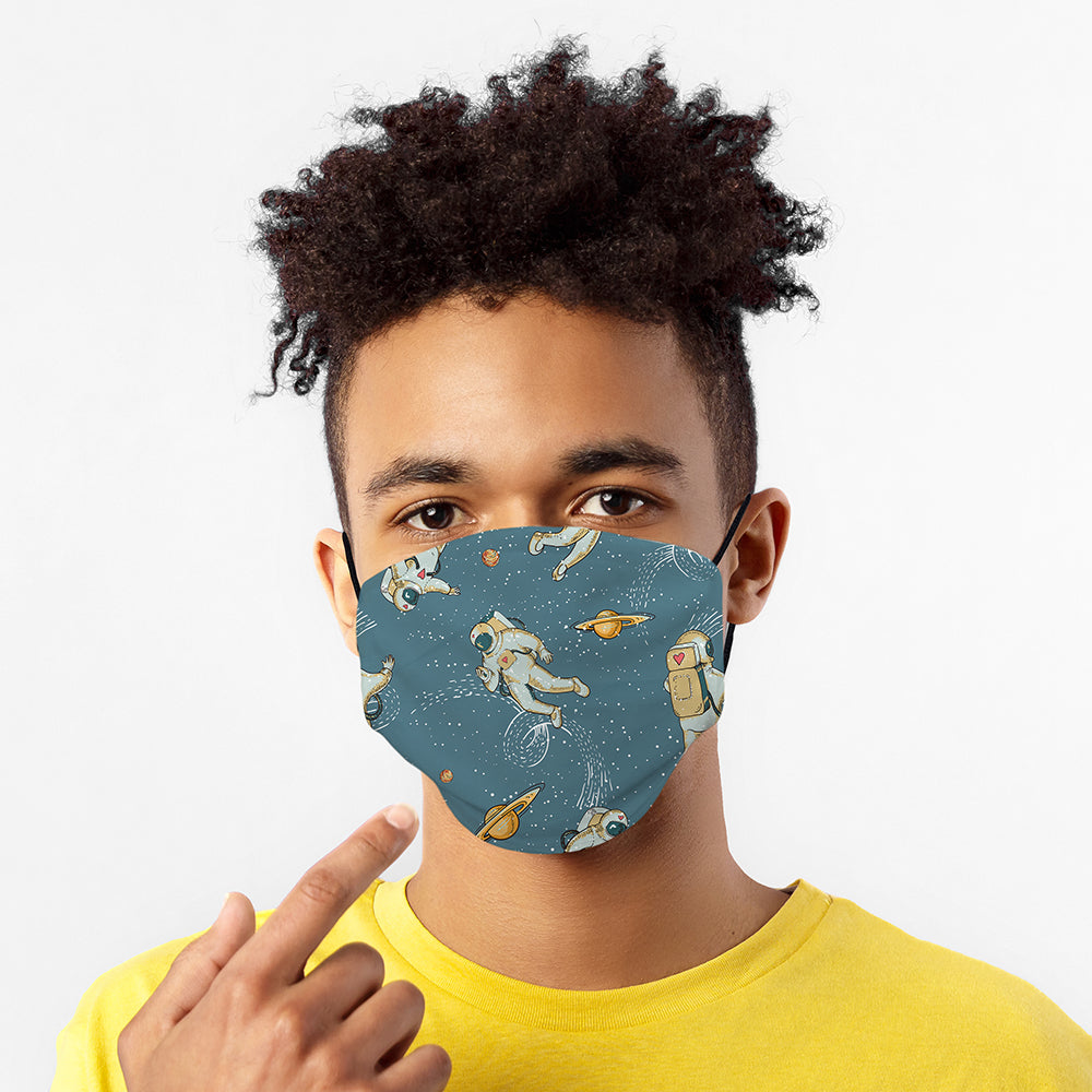 Printed Face Mask - Astronauts Design