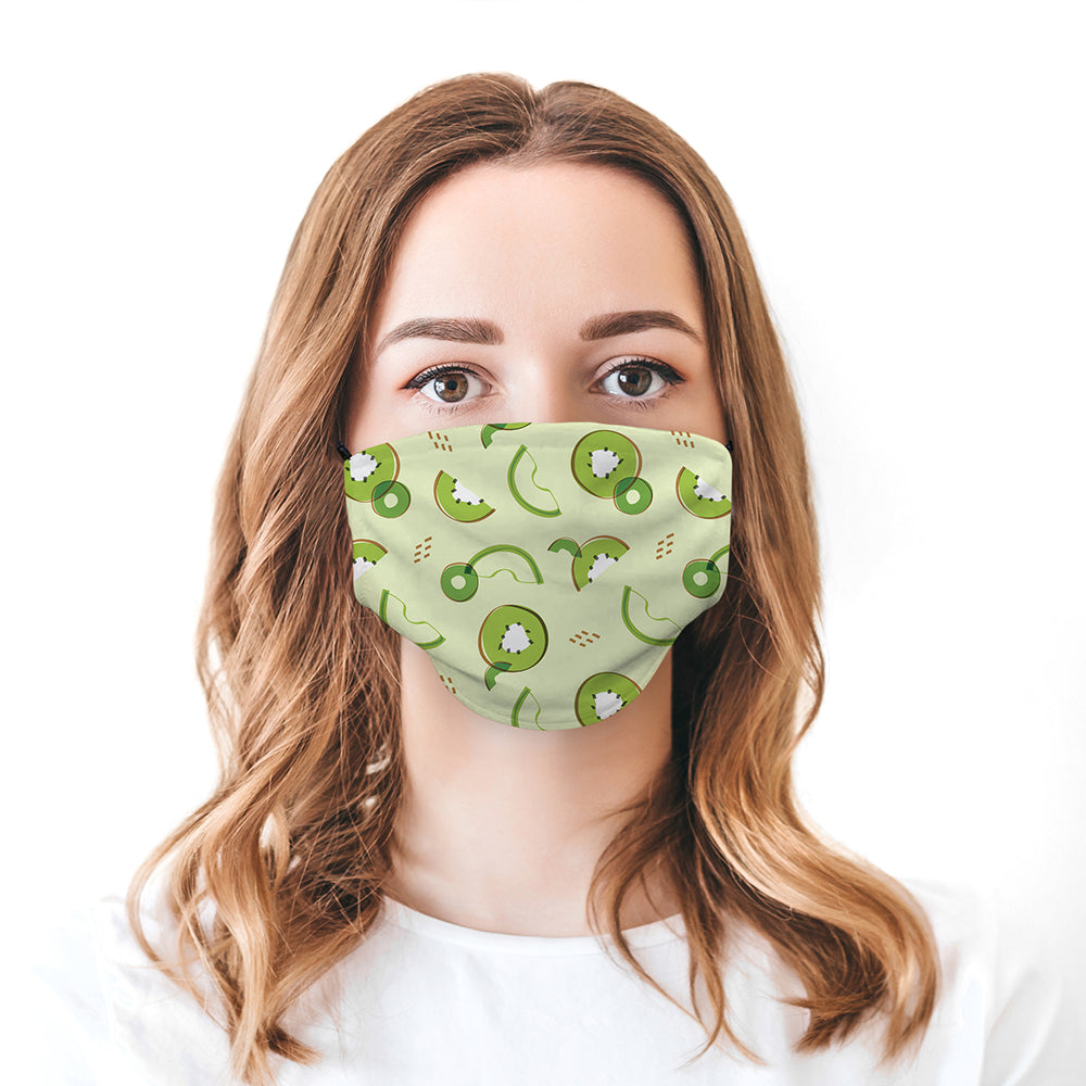 Printed Face Mask - Kiwi Pattern Design