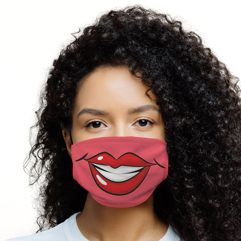 Printed Face Mask - Glam Lips Design