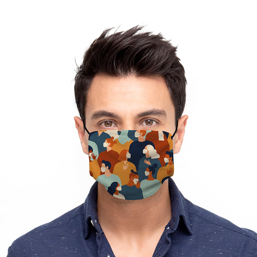 Printed Face Mask - Maskception Pattern Design