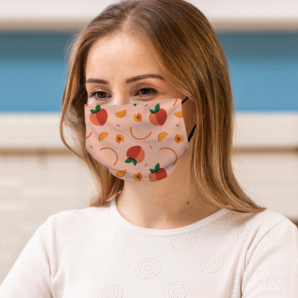 Printed Face Mask - Fruit Salad Pattern Design