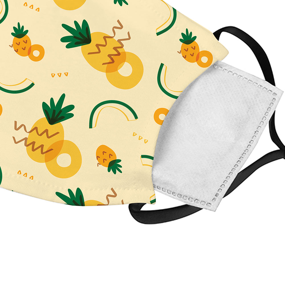 Printed Face Mask - Pineapple Pattern Design