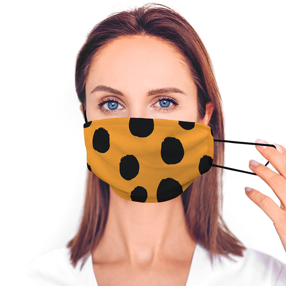 Printed Face Mask - Spots Pattern Design