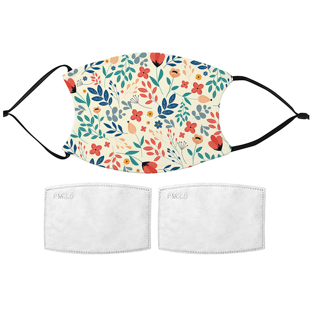 Printed Face Mask - Spring Flowers Design
