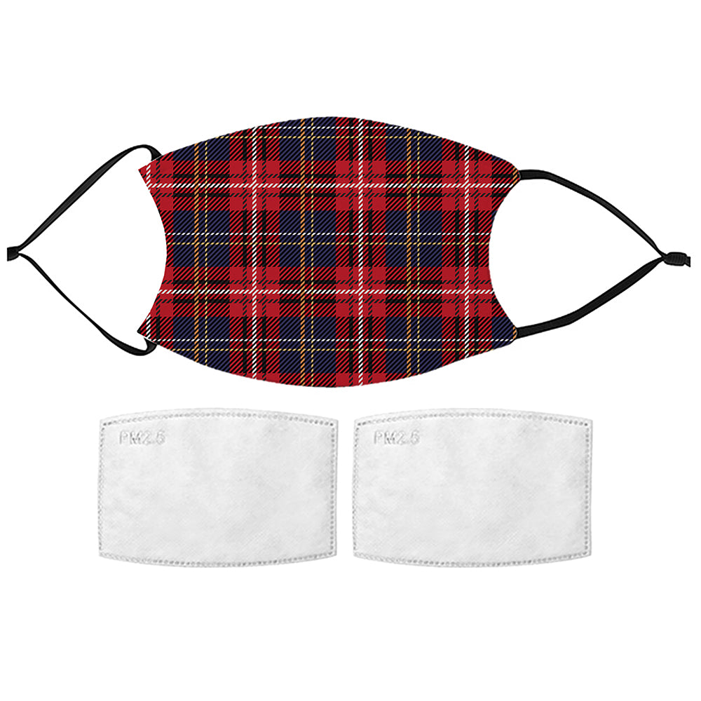 Printed Face Mask - Tartan Pattern Design