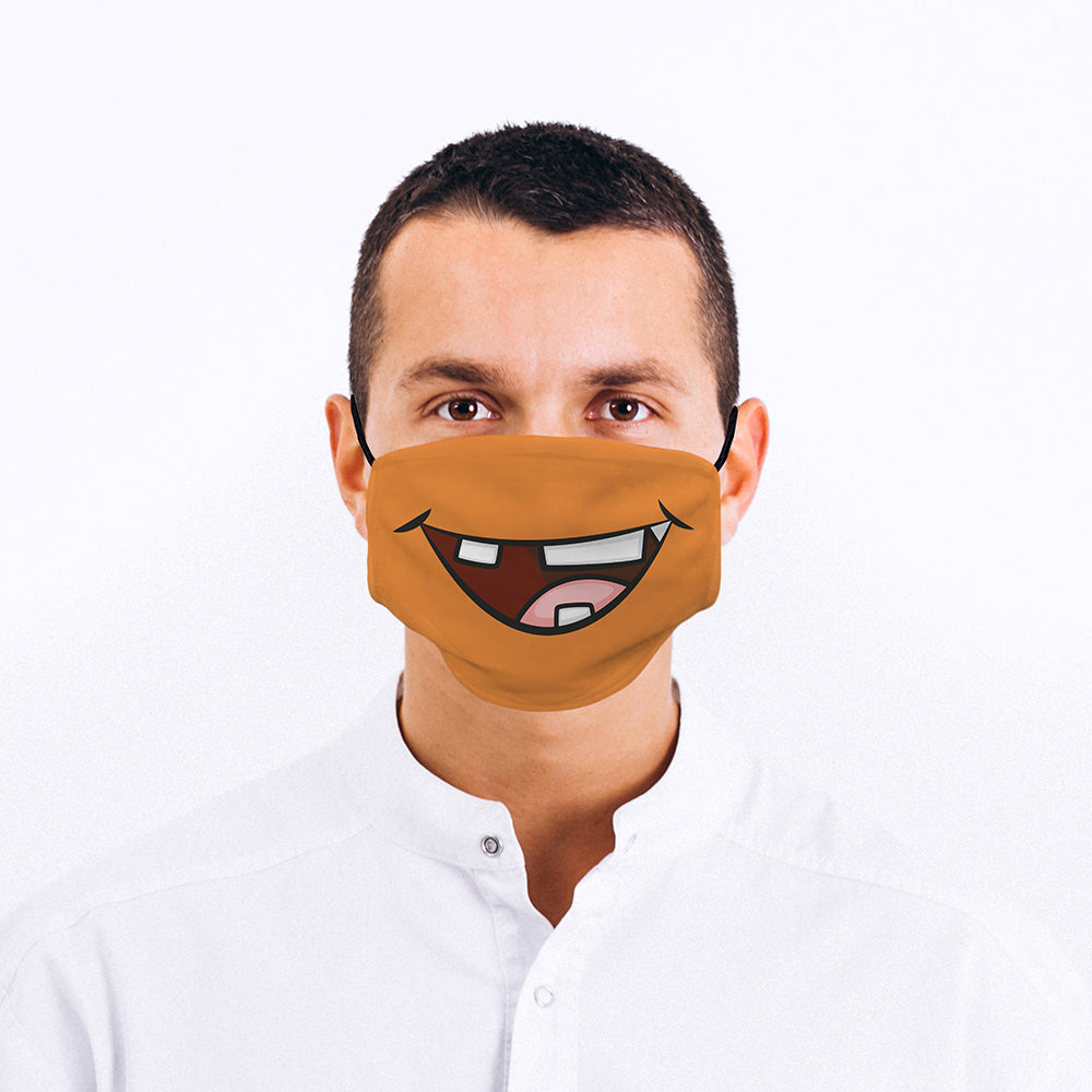 Printed Face Mask - Goofy Mouth Design
