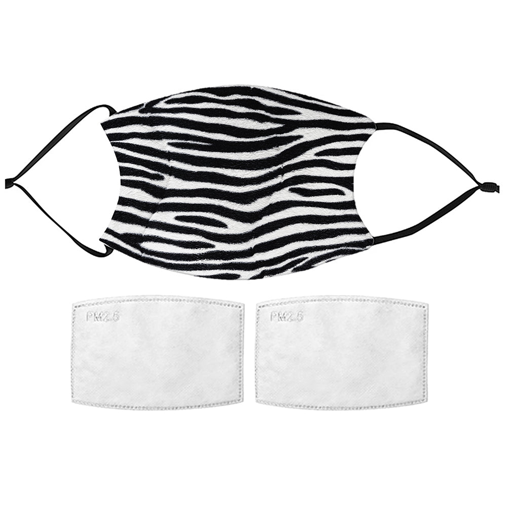 Printed Face Mask - Zebra Narrow Pattern Face Mask
