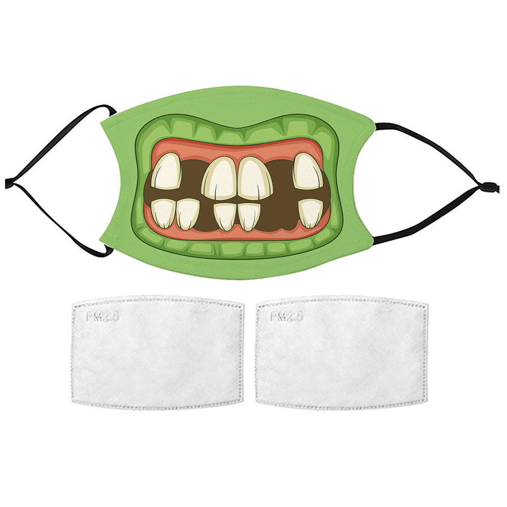 Printed Face Mask - Zombie Mouth Face Mask