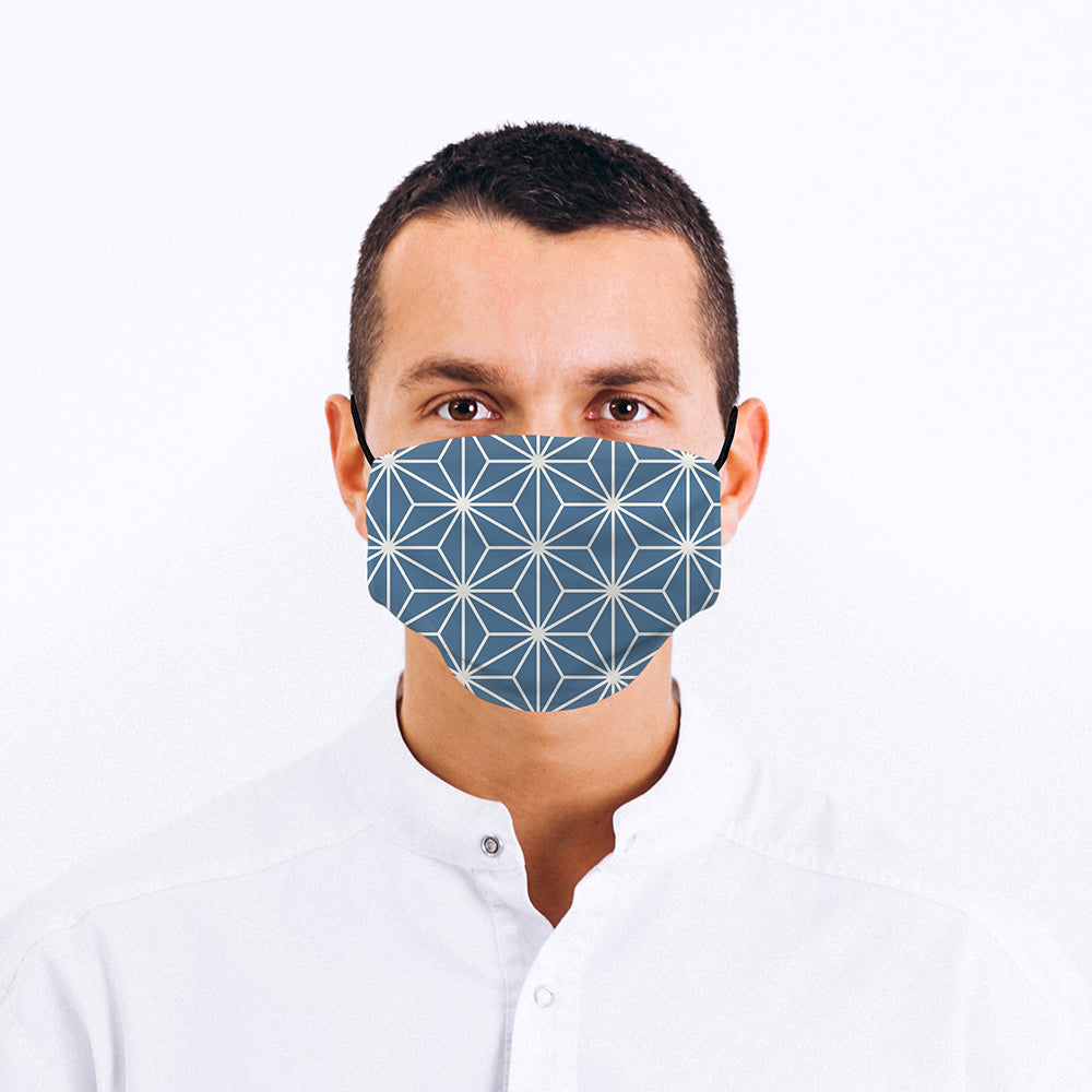Printed Face Mask - Geometric Star Pattern Face Mask