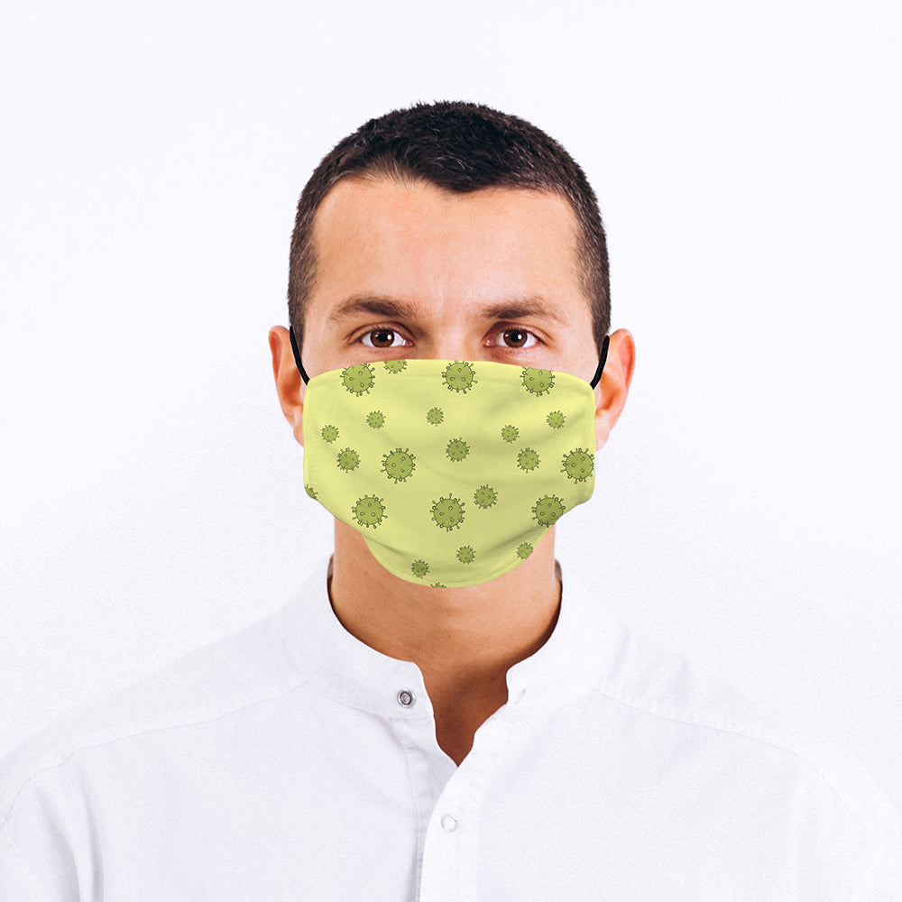 Printed Face Mask - Germ Pattern Design
