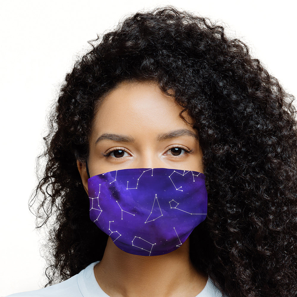 Printed Face Mask - Night Sky Constellations