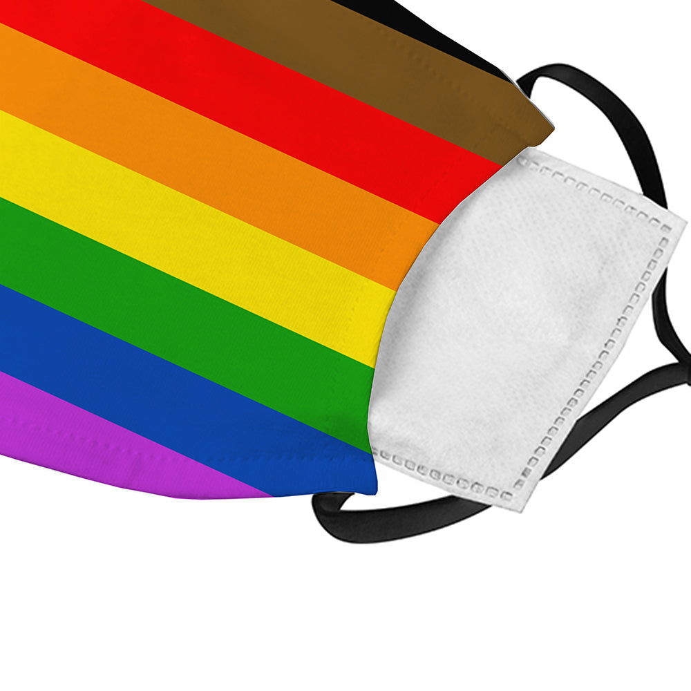 Printed Face Mask - Pride Flag