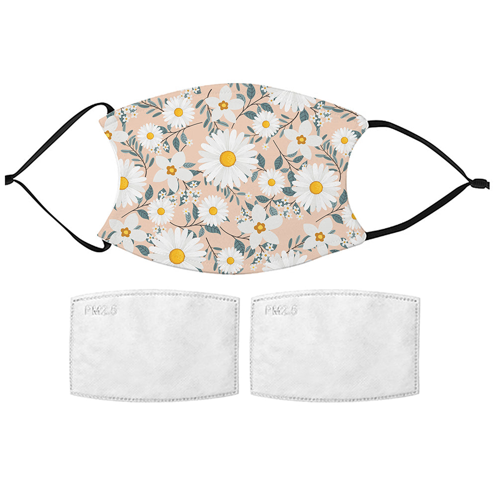 Printed Face Mask - Daisy Pattern Design