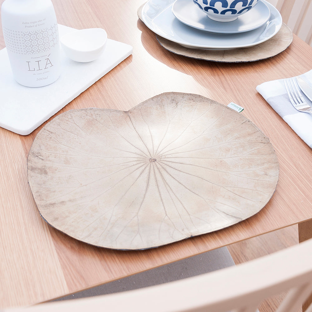 Natural Lotus Leaf Placemats - Set of Four