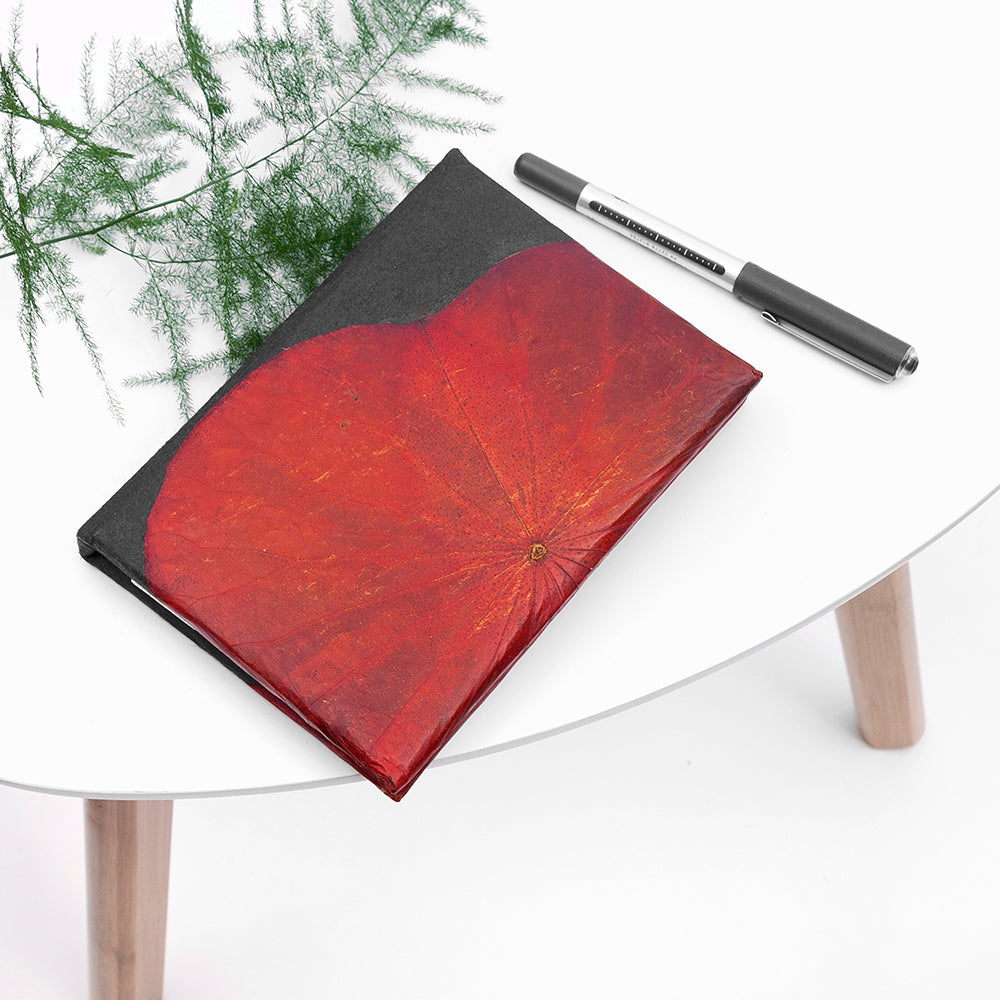 A6 Lotus Notebook - Red