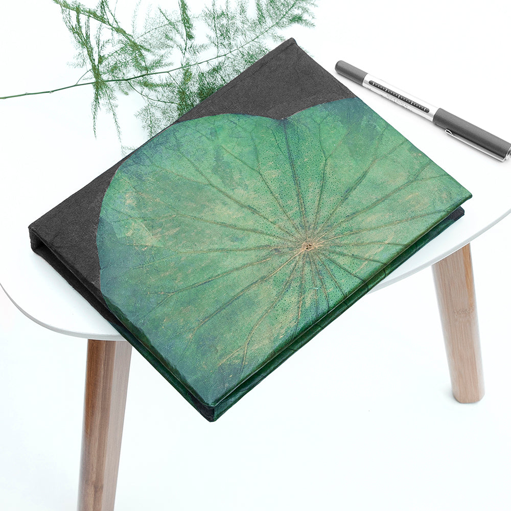 A5 Lotus Notebook - Green