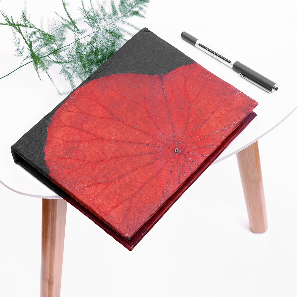 A5 Lotus Notebook - Red