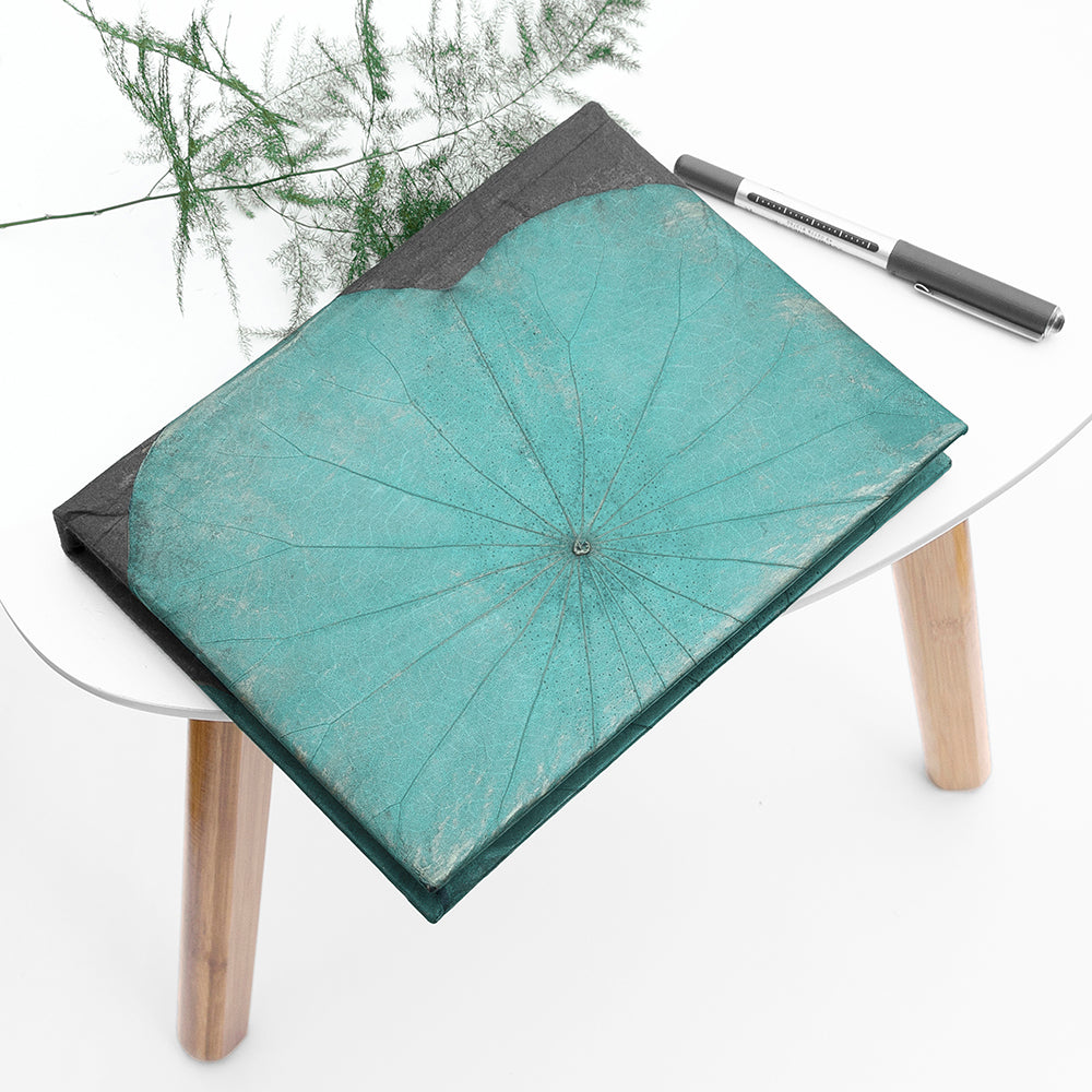 A5 Lotus Notebook - Teal