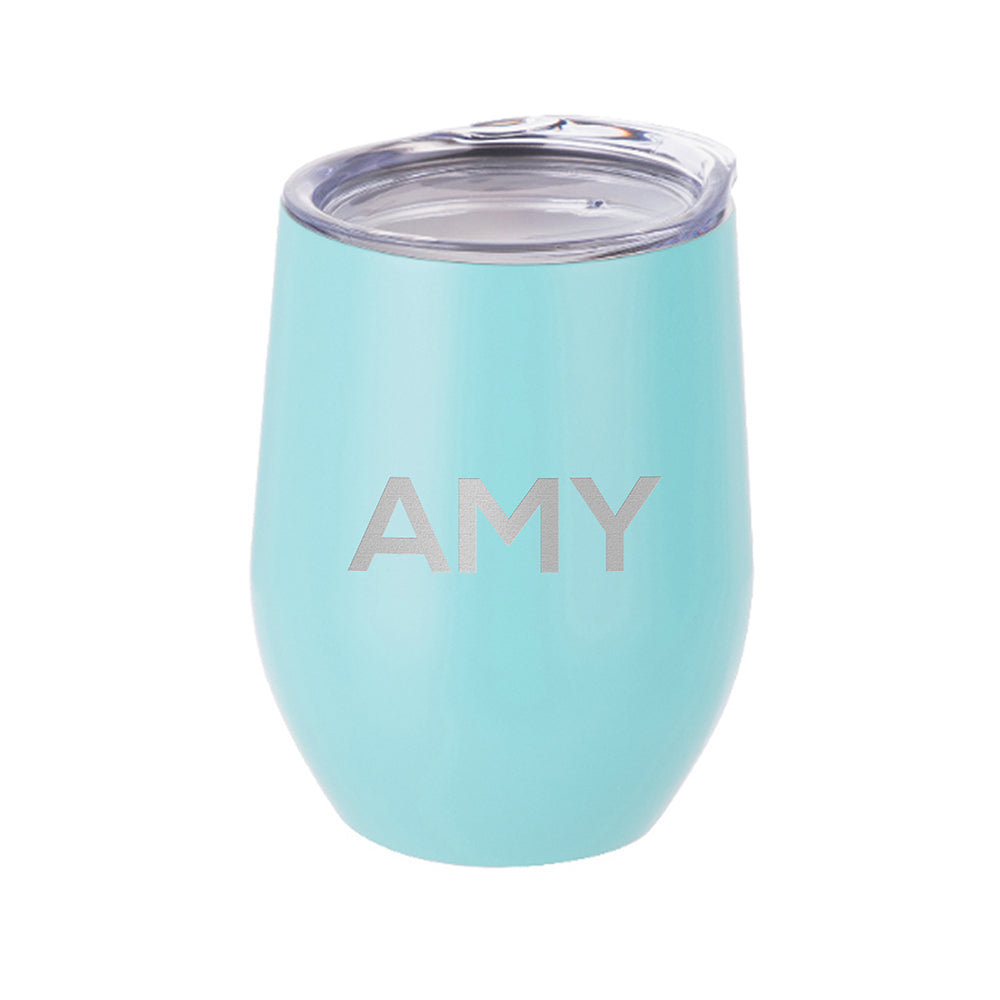 Personalised Insulated Stemless Matte Wine Tumbler