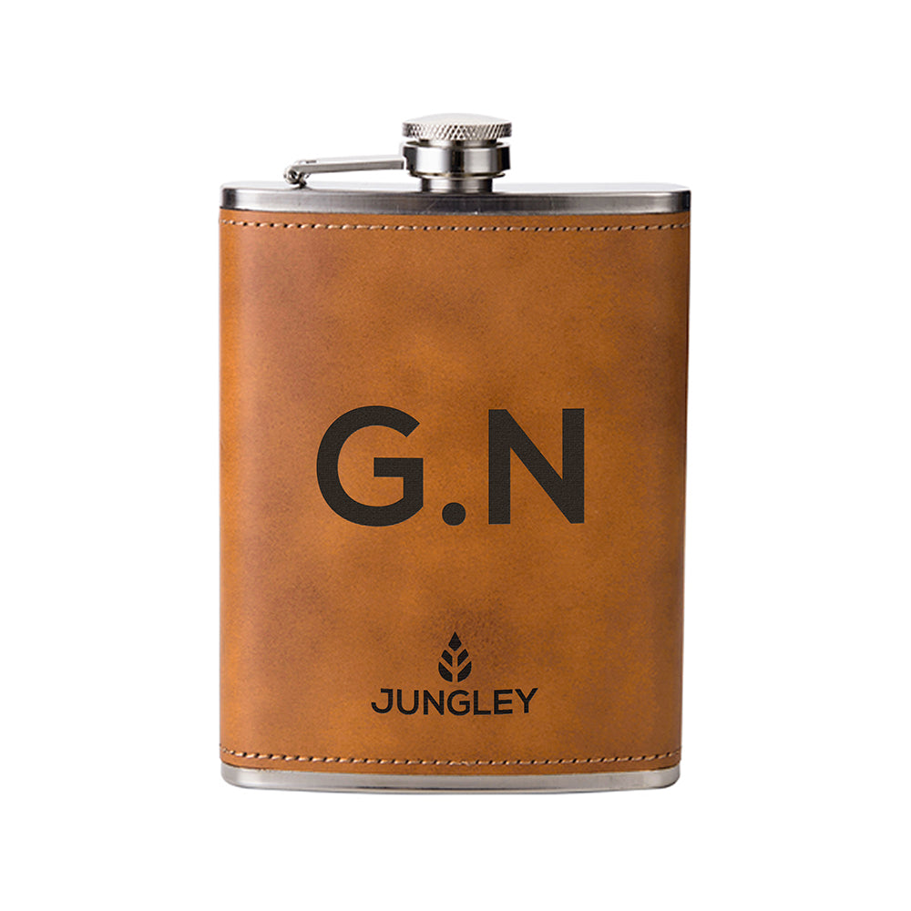 Personalised Faux Leather Hip Flask