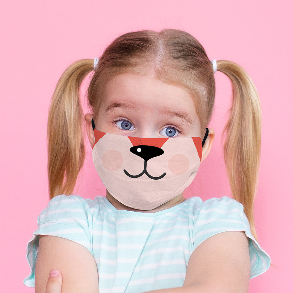Kids Printed Face Mask - Puppy Nose