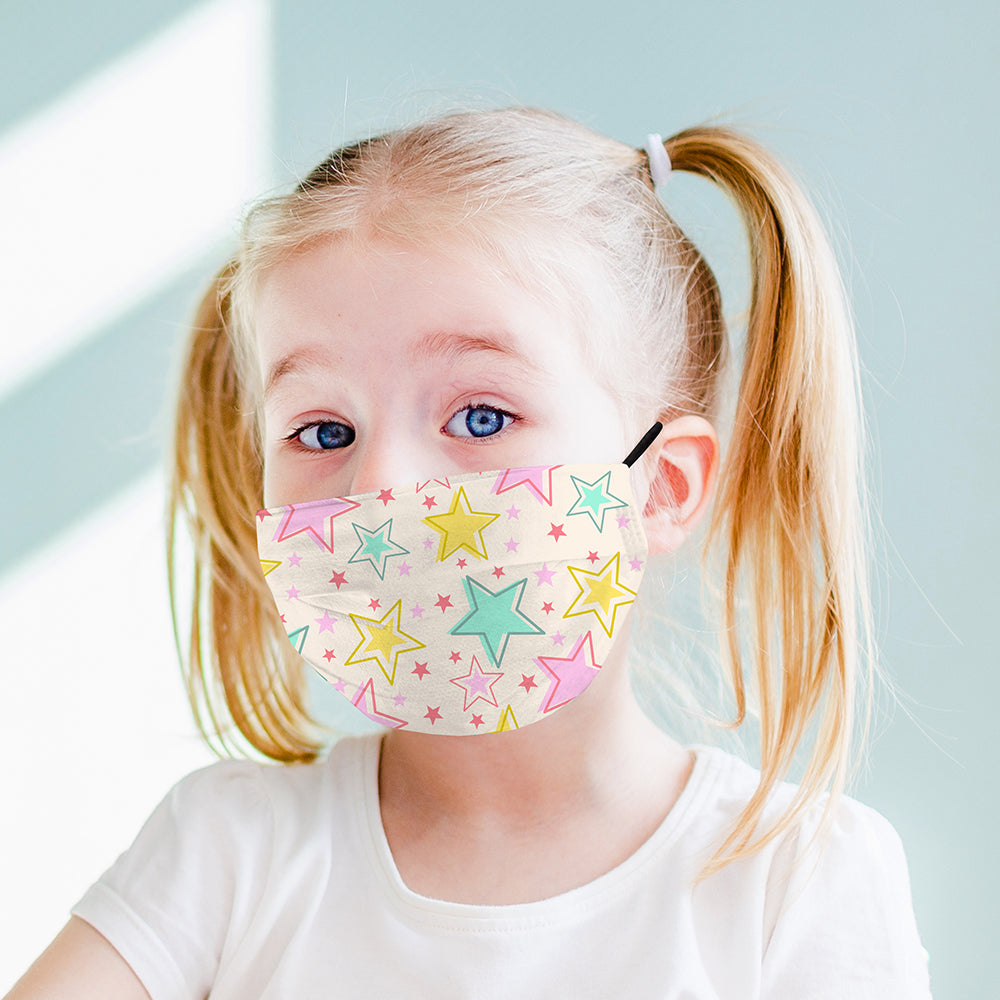 Kids Printed Face Mask - Stars