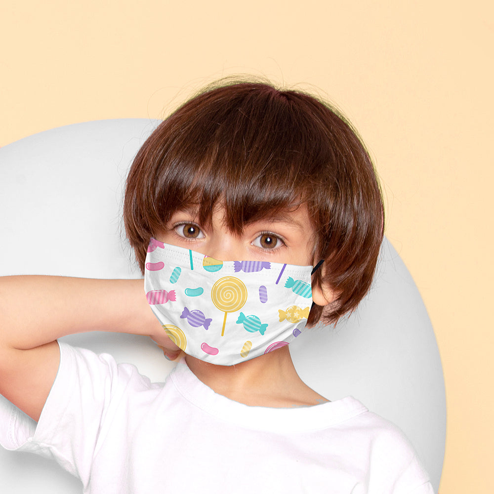 Kids Printed Face Mask - Sweets