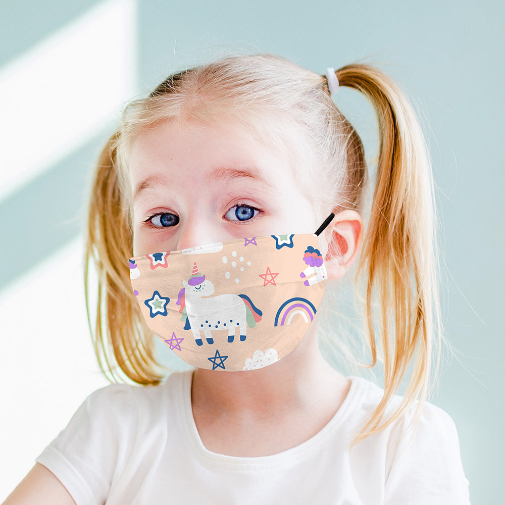 Kids Printed Face Mask - Unicorn