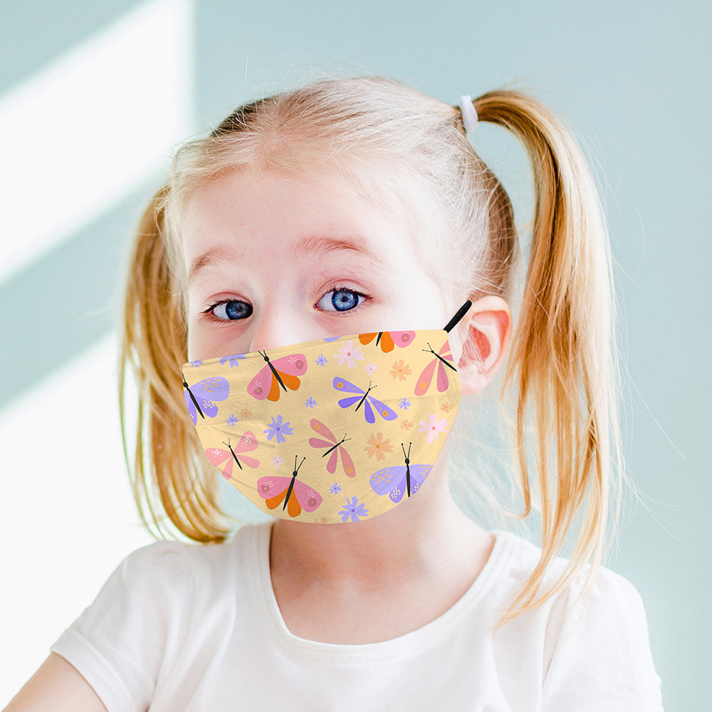 Kids Printed Face Mask - Butterfly