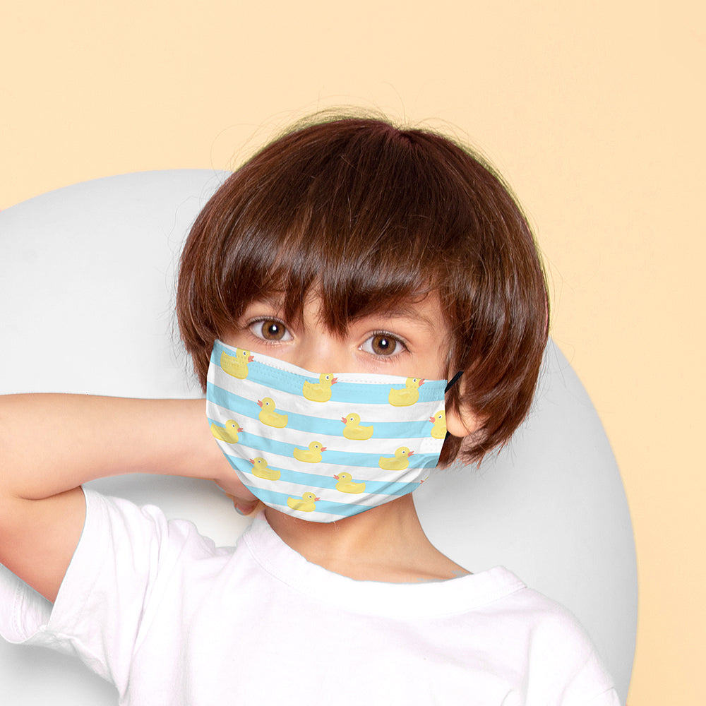 Kids Printed Face Mask - Rubber Duck