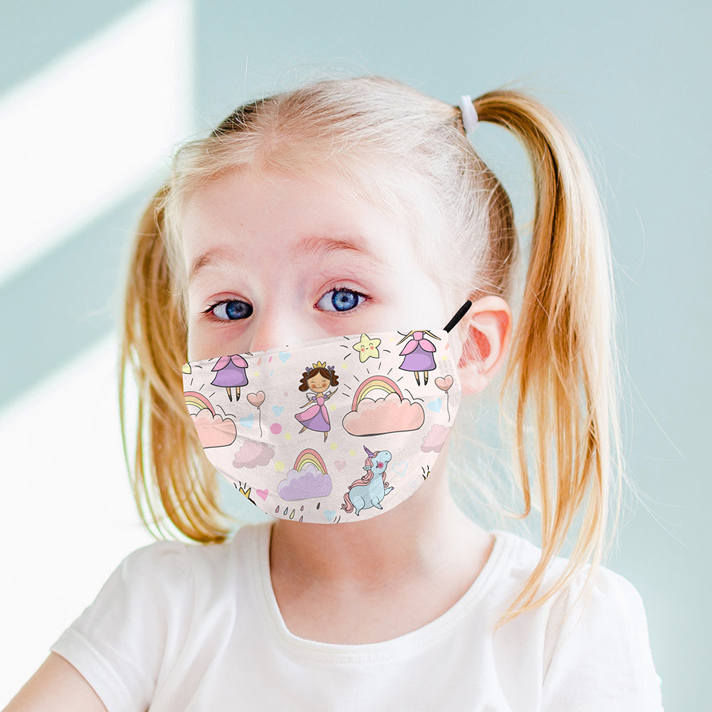 Kids Printed Face Mask - Fairy Princess