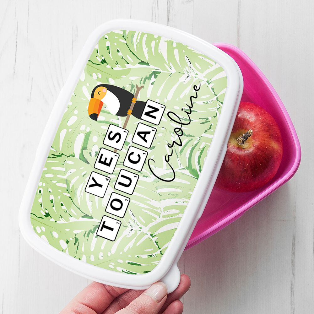 Personalised Yes Toucan Lunch Box - treat-republic