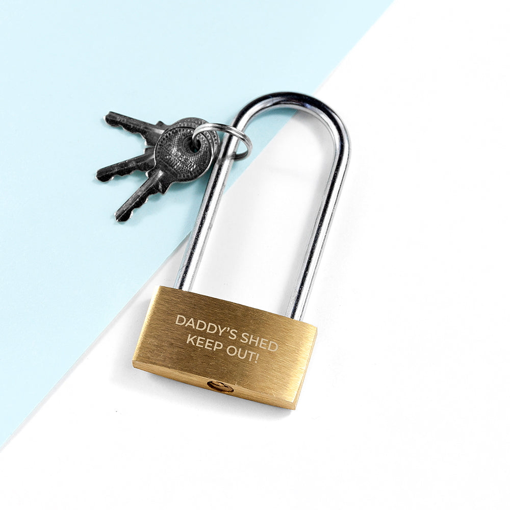 Personalised Long Shackle Padlock