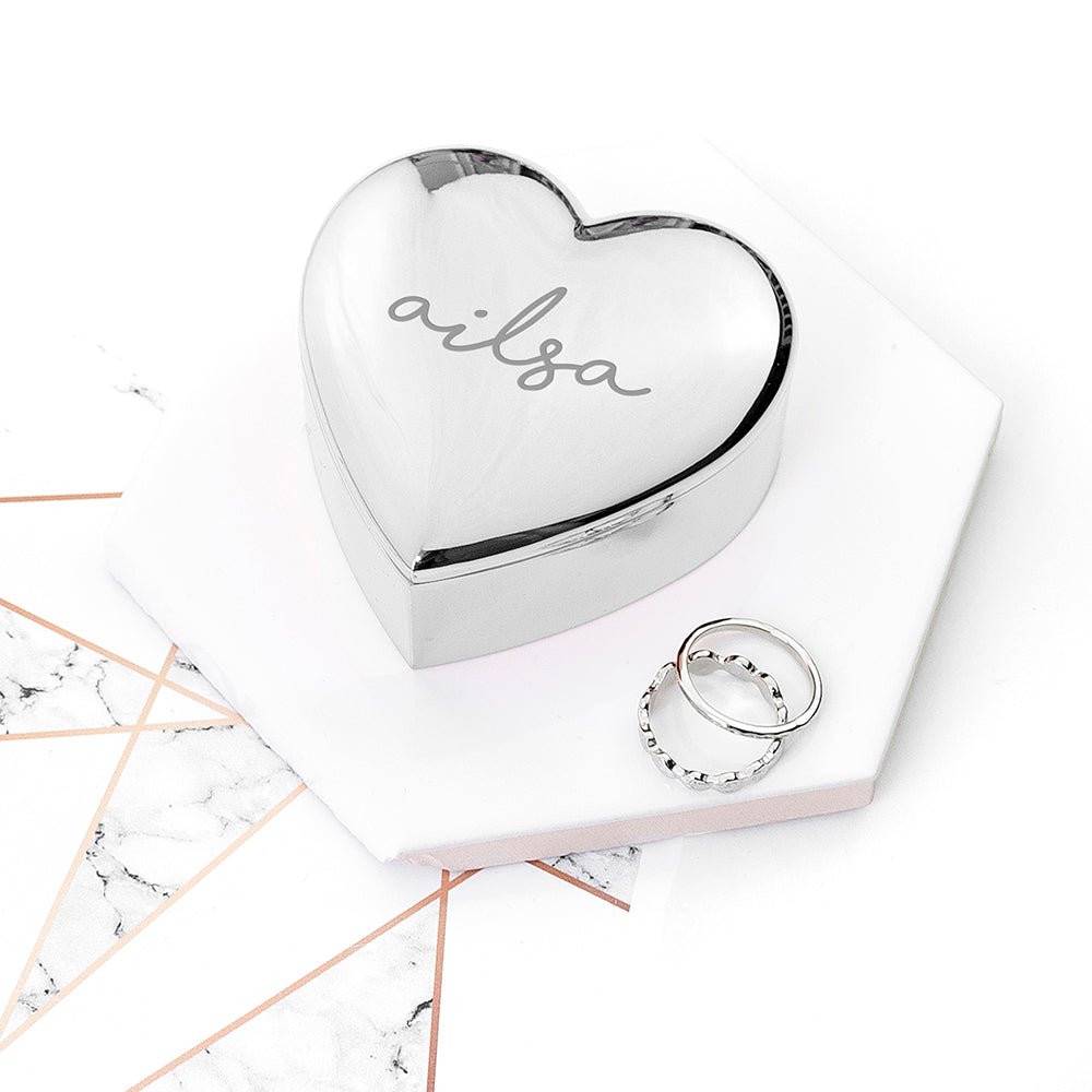 Personalised Heart Trinket Box - treat-republic