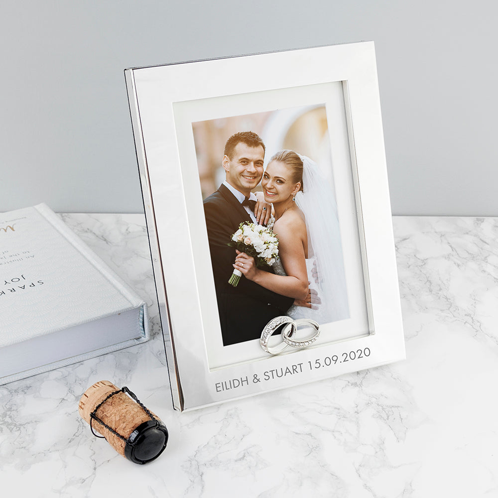 Personalised Wedding Rings Photo Frame - treat-republic