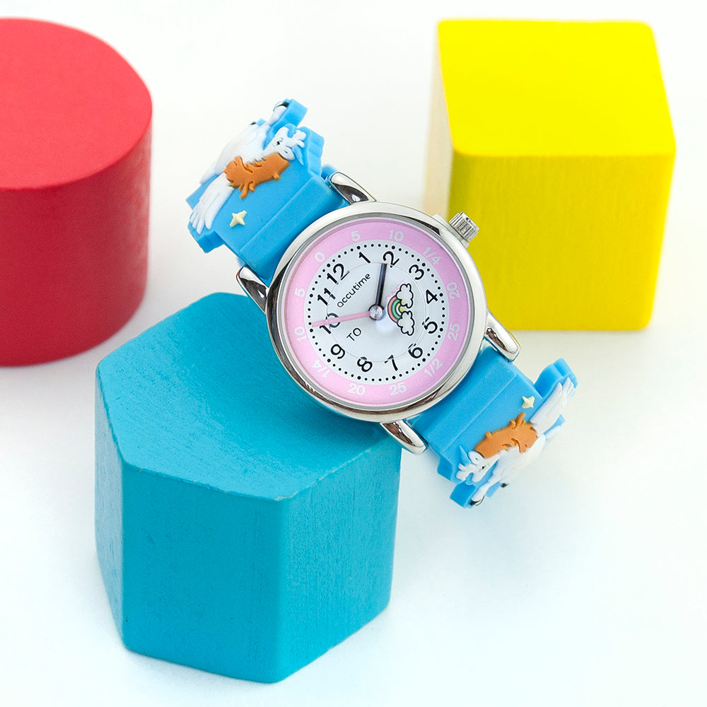 Kids Personalised Rainbow Unicorn Watch