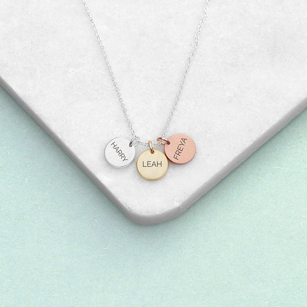 Personalised My Family Discs Necklace