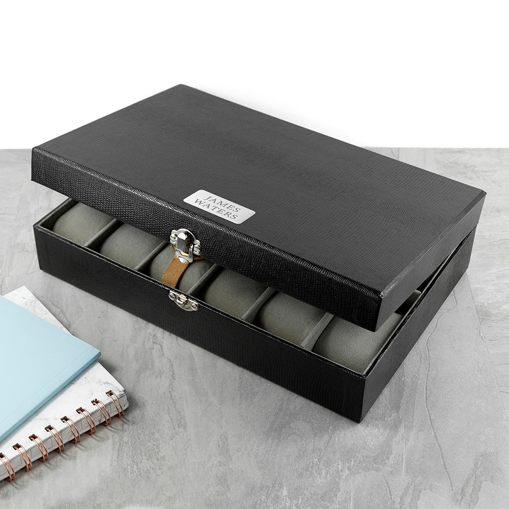 Personalised Luxury 12 Piece Watch Box - treat-republic