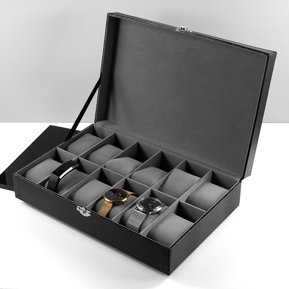 Personalised Luxury 12 Piece Watch Box
