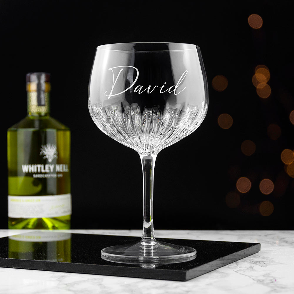 Personalised Crystal Gin Goblet