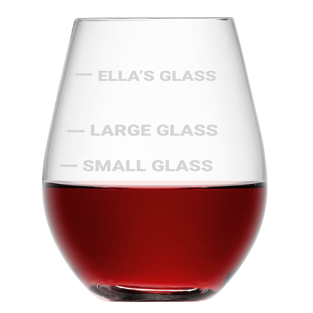 Personalised Stemless Cheeky Red Wine Glass