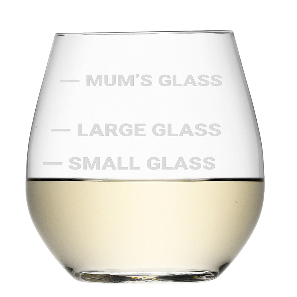 Personalised Stemless Cheeky White Wine Glass