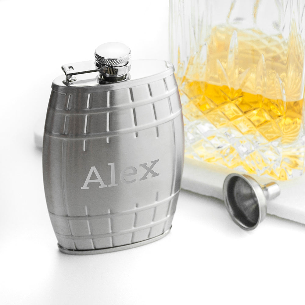 Personalised Cask Hip Flask