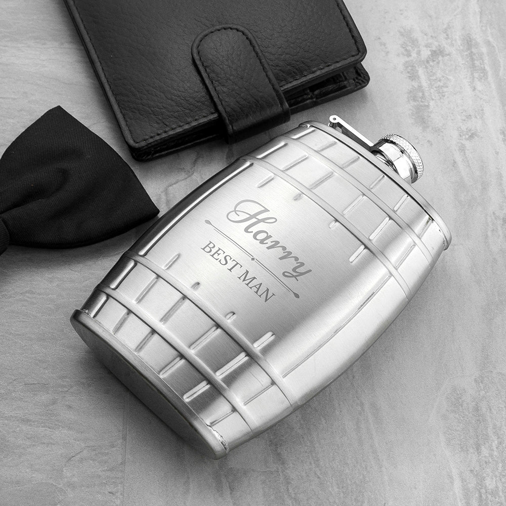 Personalised Groomsmen Cask Hip Flask
