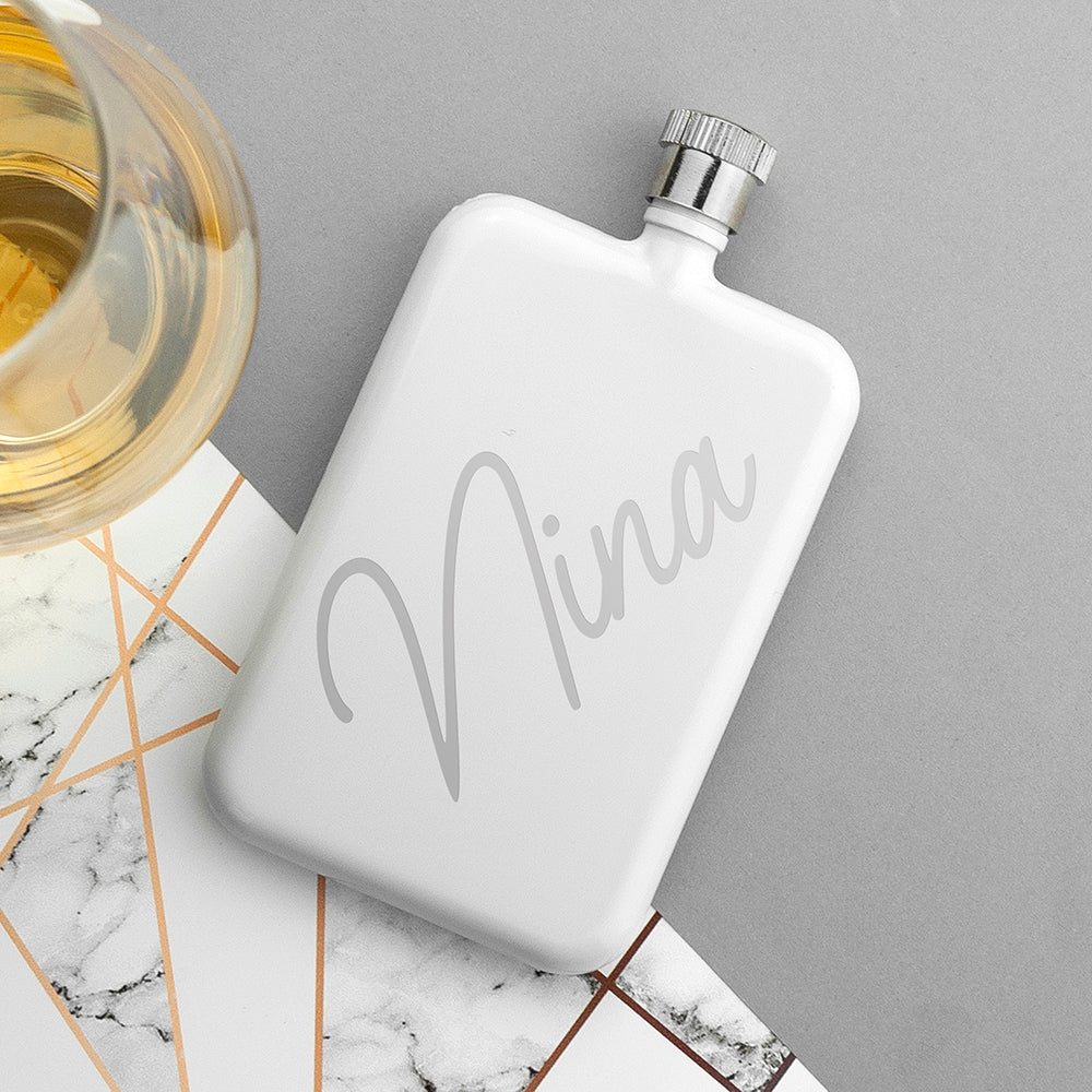 Personalised Slimline Hip Flask