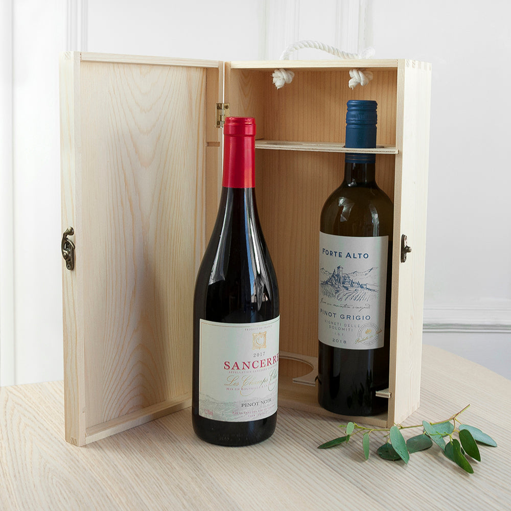 Personalised Mr & Mrs Double Wine Box