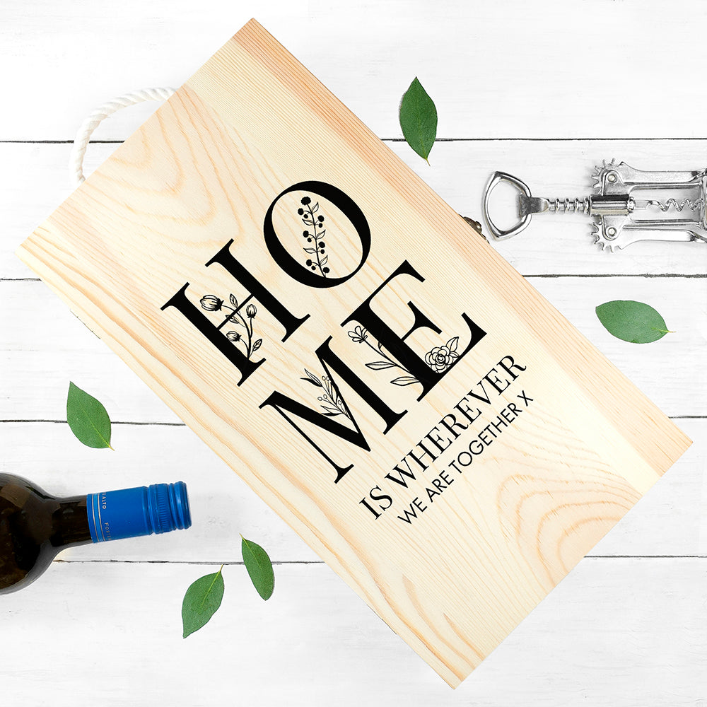 Personalised Home Double Wine Box