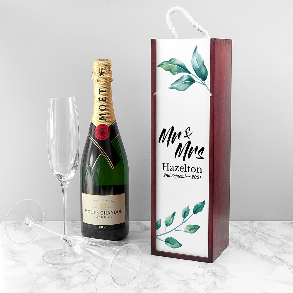 Personalised Couple's Wine Box